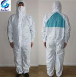 Tuta non tessuta a gettare utilizzata per la prova protettiva industriale della polvere