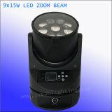 indicatore luminoso della discoteca del fascio dello zoom di 9PCS 15W