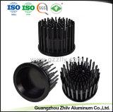 Aluminium-LED Kühlkörper schwarzer Umlaufpin-mit anodisierenfertigstellung