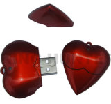 Memória chinesa da fábrica da movimentação relativa à promoção do flash do USB da forma do coração do presente