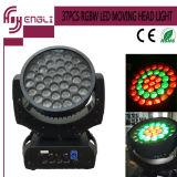 37PCS RGBW met het LEIDENE van de Lamp CREE Bewegende HoofdLicht van de Was
