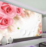 Nuevos murales autos-adhesivo movibles románticos de la pared de Rose del formato grande del diseño para el sitio de la base