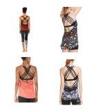 Acolchada Strappy Icyzone sostén deportivo Yoga Ejercicios Activewear Tops ropa para mujer