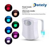 Fühler-Badezimmer Illumibowl Sitz des LED-Toiletten-Nachtlicht-8color Bewegung betätigter