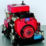 ガソリン機関と油圧火の小型ポンプ