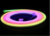 Indicatore luminoso al neon cambiante della corda della flessione IP68 LED della decorazione di festival di colore di DMX512 Ws2811 RGBW
