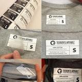 Le transfert de chaleur de l'impression Étiquette personnalisée pour le tissu