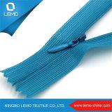 의복 복장 핸드백을%s 중국 제조자 주문 나일론 파란 보이지 않는 지퍼