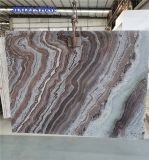 Background/Wall Cladding/Polished Tiles/Slabs Decorative Stone Marble Priceのための自然なStone Dark Marble Book Match River Wave VeinsかGranite/Onxy