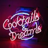 """Nuevo cartel de neón de los sueños de cócteles y Bar Pub Happy Hour Casa Parte de la luz de 17""""x14"""""""