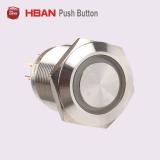 tasto momentaneo dell'acciaio inossidabile di 19mm 12V LED con pre i collegare