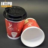 Custom café chaud Red 8oz 120z les tasses de papier