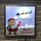 La navidad animación intermitente del panel de publicidad
