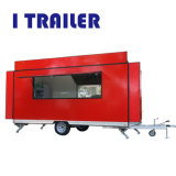 台所装置が付いているガラス繊維の食糧カートの移動式食糧ヴァン