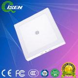 12W painel de LED do sensor de luz com sensor de movimentos PIR