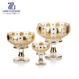 3PCS de gouden Geplateerde Geplaatste Kommen van het Fruit van het Glas (TZ3-GB1669TYH)