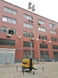 4*1000W Lámpara de halogenuros metálicos generador diesel de la torre de iluminación móviles