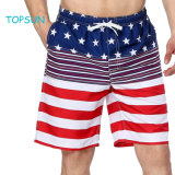 Les hommes d'été de drapeau américain Shorts Carte de circuits imprimés avec Pocket nager court pantalon de plage de lignes réseau
