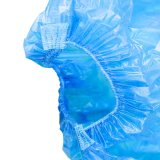PE bleu en plastique jetables étanches couvercle du manchon
