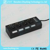 4 commutateurs 4 LED 4 ports USB Hub 2.0 (ZYF4231)