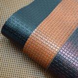 Выбитая заплетенная ротангом кожа PU решетки искусственная для сумки мешка