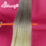 Estensione brasiliana dei capelli umani di Remy del nastro di colore di Ombre