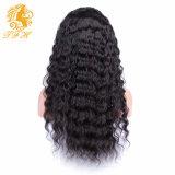 Чернокожие женщины париков фронта шнурка человеческих волос high-density передних париков человеческих волос шнурка париков шнурка полных малайзийские курчавые