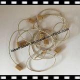 Пластмасса/без логоса/бирки Hang уплотнения шнура Хлопк-Льна одежды (ST002)