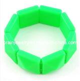La moda Punk de acrílico de color verde pulsera, pulsera de plástico, vidrio Pulsera (PB-099)