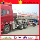3axle Milk Water Liquid Food Transport Aluminium Tanker Semi-remorque