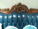Canapé en cuir style américain, canapé en cuir antique en cire, canapé modèle neuf de haute qualité (B018)