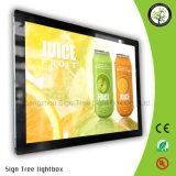 Panneau de publicité d'intérieur DEL magnétique Lightbox avec le cadre léger de rectangle