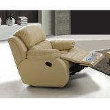 Reclinação eléctrica de sofá de couro couro genuíno moderno sofá de Reclinação 6004#