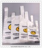 Les sacs en plastique de sac/gilet de T-shirt de singulet fait sur commande de HDPE et de LDPE/portent des sacs pour des achats