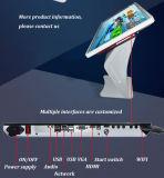 Publicidad del suelo de la visualización del LCD que coloca el quiosco de la pantalla táctil de 42 pulgadas