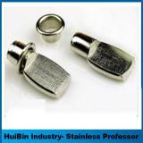 316 estantería metálica de acero inoxidable de 304 clavijas de soporte para hardware de muebles de madera Ventana de cristal