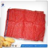 personalizado 15kg 25kg Vermelho Sacos para embalagem de batatas Raschel