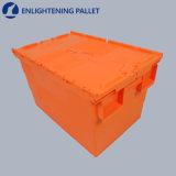 caja de embalaje plástica del rectángulo de regalo del envase de alimento del rectángulo de almacenaje 50L con las manetas y las ruedas