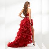 Платье выпускного вечера партии вечера шеи lhbim кристаллов Organza женщин безрукавный