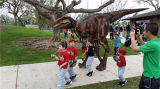 2014 горячей Луна естественный взрослых динозавров костюм