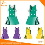 Robe netball à sublimation personnalisée avec des maillots Netball de haute qualité