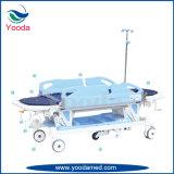Camada de transferência manual ajustável em altura com quinta roda