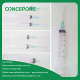3 Teile Wegwerfplastikspritze-mit Nadel (10ml)