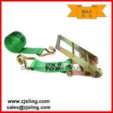 """4 """"x 50"""" Verde W / ganchos del alambre del trinquete amarre la correa"""