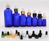 点滴器(NDB07)が付いている青の精油のガラスビン