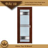 Hölzernes Korn-farbiges Drucken-Glaspanel-Aluminiumschlafzimmer-Tür