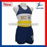 Stampa su ordinazione di sublimazione degli abiti sportivi superiori di vendita di Healong che esegue la Jersey