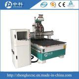 Изменителя инструмента 3 головок машина маршрутизатора CNC автоматического деревянная
