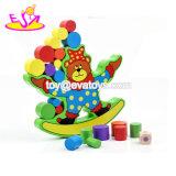 Novo escaldantes Blocos de empilhamento engraçado jogo de balanceamento de madeira para o bebé W11f071