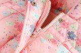 Мода девочек детей Outerwear с мягкими вставками для детской одежды